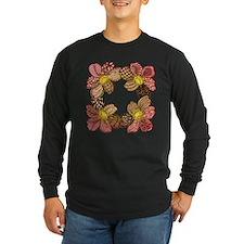 Dahlia Flower Zentang Long Sleeve T-Shirt