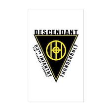 83rd Descendant Rectangle Decal