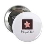 Bingo Girl Center Square Pink Star Button 10 pk
