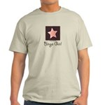 Bingo Girl Brown Center Square Pink Star T-shirt