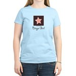 Bingo Girl Brown Center Square Star Pink T-Shirt
