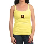 Bingo Girl Brown Center Square Pink Star Blue Tank