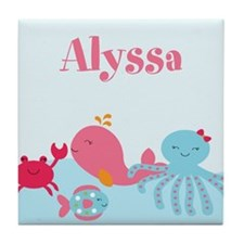 Under the Sea Personalized Tile Coaster