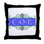 C-O-E Throw Pillow
