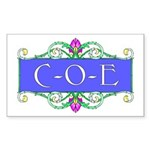 C-O-E Rectangle Sticker