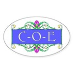 C-O-E Oval Sticker