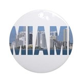 Miami, Florida Ornament (Round)