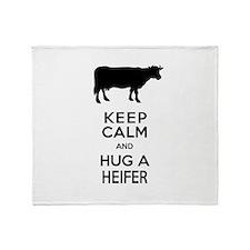 Cute Dairy cow Throw Blanket
