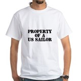 Navy Wife Property of a US Sa Shirt