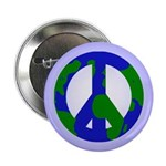 Earth Peace Sign Button (10 pack)