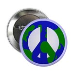 Earth Peace Sign Button