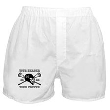 Lacrosse Team Black Alpha Boxer Shorts