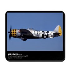 Airplane, Republic P-47 Thunderbolt, Mousepad