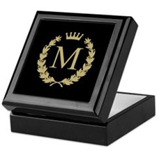 Custom Initial Monogrammed Logo Keepsake Box