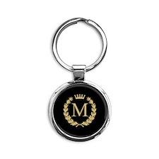 Custom Initial Monogrammed Logo Keychains