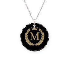 Custom Initial Monogrammed Logo Necklace