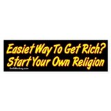 Get Rich Bumper Bumper Sticker