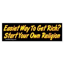 Get Rich Bumper Car Sticker