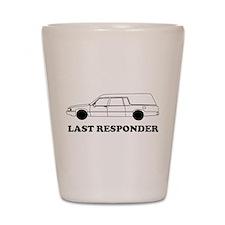 Hearse last responder Shot Glass