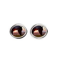 Evening Sun Horse Oval Cufflinks