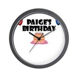 Paige's Birthday Wall Clock