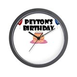 Peyton's Birthday Wall Clock