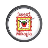 Sweet Mikayla Wall Clock