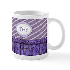 Maritime Monogram Purple Mug