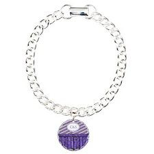 Maritime Monogram Purple Bracelet