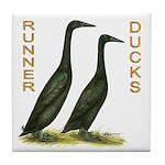 Black Runners Tile Coaster