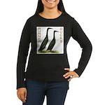 Black Runners Women's Long Sleeve Dark T-Shirt