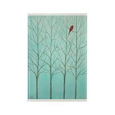 Little Red Bird Rectangle Magnet