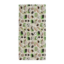Sushi Characters Pattern Beach Towel