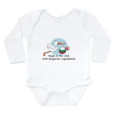 Cool Bulgarian Long Sleeve Infant Bodysuit