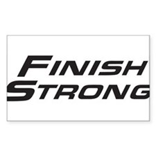 Finish Strong Classic Logo Decal