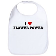 I Love FLOWER POWER Bib