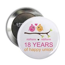 "18th Anniversary Persnaliz 2.25"" Button (100 pack)"