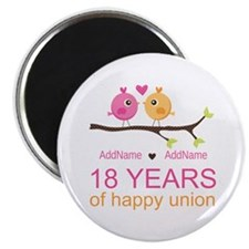 "18th Anniversary Persnaliz 2.25"" Magnet (100 pack)"