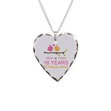18th Anniversary Persnalized Necklace