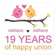 19 Years Anniversary Person 5.25 x 5.25 Flat Cards