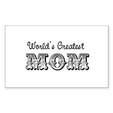 World's Greatest Mom Rectangle Decal