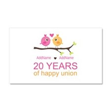 Personalized 20th Anniversary Car Magnet 20 x 12