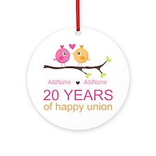 Personalized 20th Anniversary Ornament (Round)