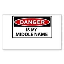 DANGER is my middle name Decal