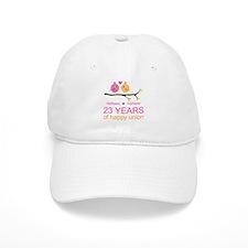 23 Years Anniversary Personalized Baseball Cap