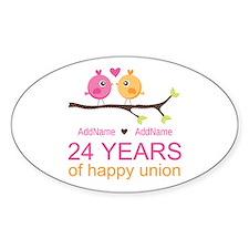 24th Wedding Anniversary Personaliz Decal