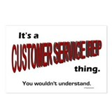 Customer Service Rep Postcards (Package of 8)