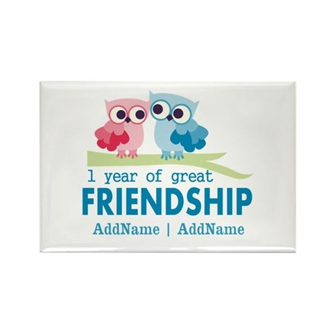 1st Anniversary Personalized Magnet