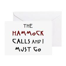 hammock calls Greeting Card