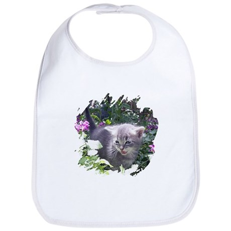 Flower Kitten Bib